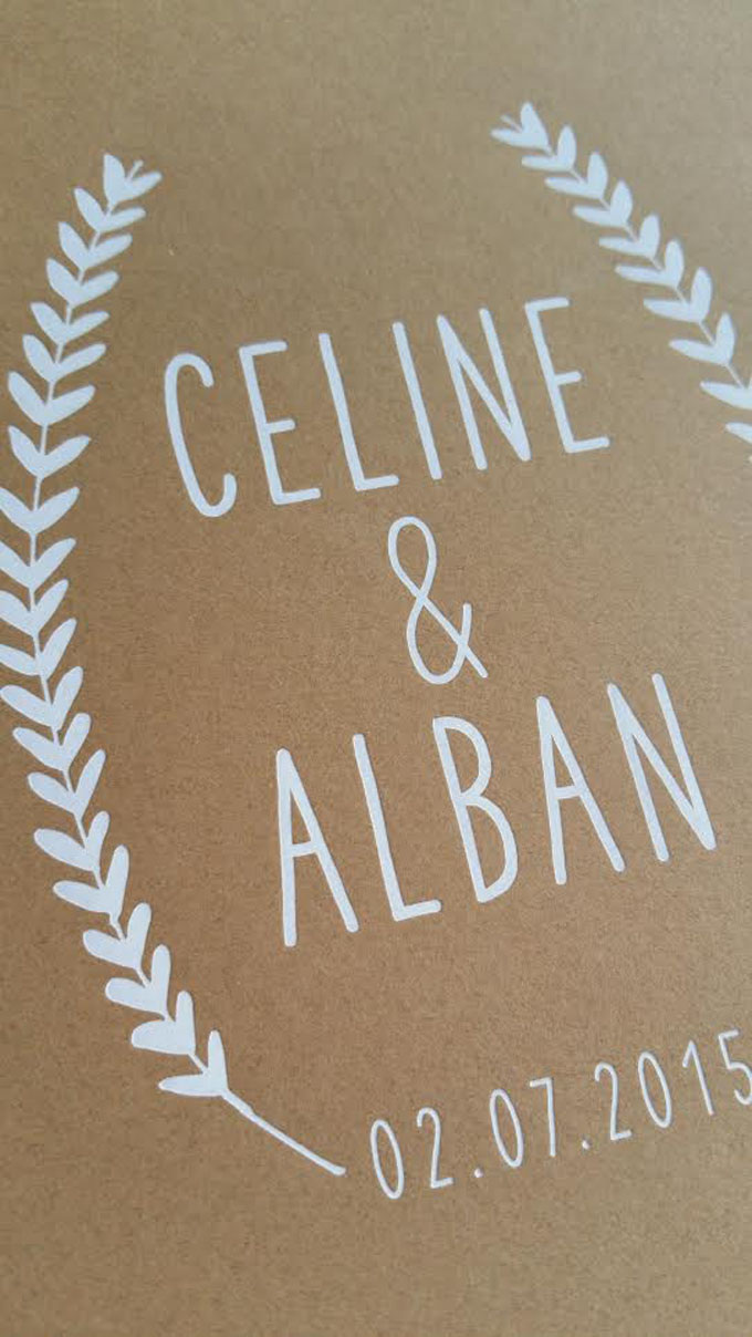 Faire Part Céline & Alban
